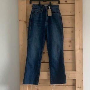 "MADEWELL jeans straight leg 10"" high"
